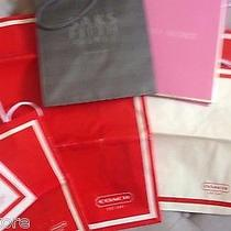 Lot 8 Luxury Paper Shopping Bags Coach Saks Victorias Secret Box Xl 18