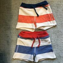 Lot Baby Gap Boys Shorts 100% Cotton Size 6-12 Months 2 Pairs Photo