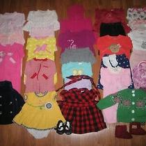 Lot Baby Girls Fall Winter Clothes 0-3 3-6 6 Months Carters Just One You Gap  Photo