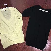 Lot/ Express Black Sweater Size S and Light Yellow Sweater Photo