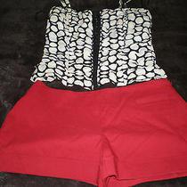 Lot Express Red Shorts 1/2 and Black/white Polka Dot Corset Tank by Aggi Small Photo