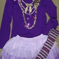 Lot Gap Kids Justice Girls Medium 7 8 Shirt Top Tulle Skirt Socks Purple Photo