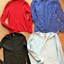 Lot Gap Old Navy ny&co Womens L Top Cardigan Sweatshirt Long Sl Shirt Turtleneck Photo
