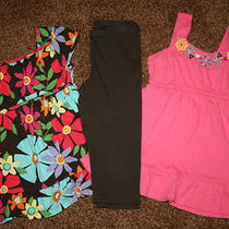Lot Girls Gap Crazy Brights Floral Tank Top Tunic Leggings Size 5t 5 Small S Photo