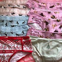 Lot of 10 Panties Victoria's Secret  Pink Holiday Set New Sold Out Rare  Photo