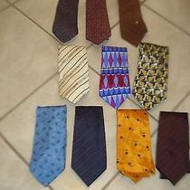 Lot of 10 Silk Ties Etro Celine Marc Jacobs Moschino Pucci Lanvin Nina Ricci Photo