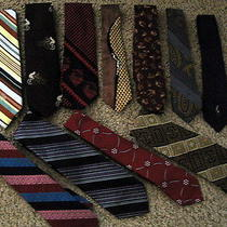 Lot of 11 Brand Name Designer Mens Neck Ties Polo/cassini/damon/ Consort/gucci Photo