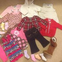 Lot of 12 Month Baby Girl Clothes Socks Boots Size 4 1 Year / Toddler  Photo