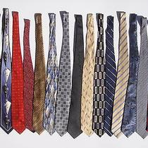 Lot of 15 Brand Name Designer Ties Neckties Brooks Brothers Giorgio Armani Etc Photo