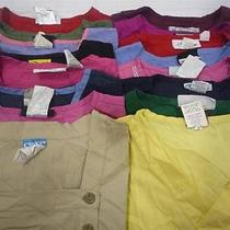 Lot of 16 Medical Dental Nurse Vet Solid Scrub Tops Size Xs Dickies and Others Photo