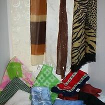 Lot of 17bulkvintagescarveshandkerchiefspaoliavonglentexsatin Pilotcl Photo