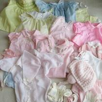 Lot of 18 Vintage Baby Girl Clothing Excellent Condition Smocked Dresses Rompers Photo