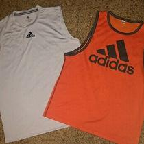 Lot of 2 Adidas Mens Athletic Tank Tops Size L Photo