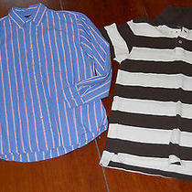 Lot of 2 American Eagle and Old Navy Men's Small Casual Shirts Photo