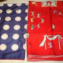 Lot of 2 Authentic Bvlgari Silk Large Scarf.  Photo