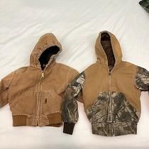 Lot of 2 Baby Toddler Size 2t Brown Carhartt & Redhead Winter Hoodie Jacket Photo