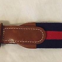Lot of 2 Belts - Lacoste Izod Made in Usa Belt & Made in England Belt - Size 34 Photo