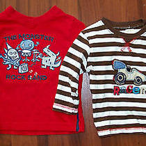 Lot of 2 - Boys Carter's Brown Car & Koala Kids Red Rock Band Shirt 3-6 Months Photo