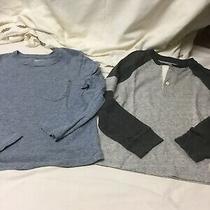 Lot of 2 Boys Gap Kids Long Sleeve Tops Size Small  6/7 Photo