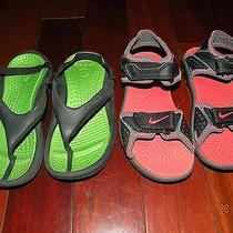 Lot of 2 - Boys Nike & Crocs Sandal Size 10-11 Photo
