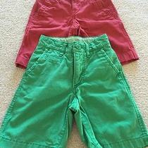 Lot of 2 Boys Shorts 5 Slim Gap Kids the Children's Place Green Brick Red Photo