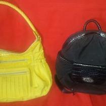 Lot of 2 Brighton Handbag and Backpack Microfiber(yellow & Black)look Photo
