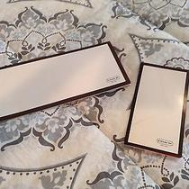 Lot of 2 Coach Logo Gift Cards Envelopes Document Holders Only White Brown Photo