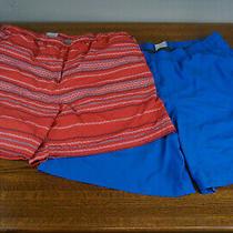 Lot of 2 Columbia Swim Trunks Shorts Xxl Mens Fishing 100% Nylon Red Blue Photo