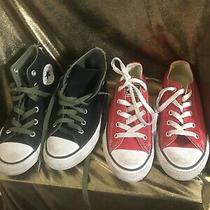 Lot of 2 Converse All Star Shoes Size 13y  Photo
