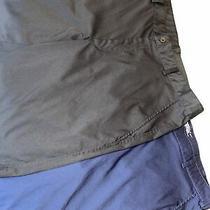 Lot of 2 Euc Mens Nike Golf Flat Front Shorts Size 36 Black and Navy Photo