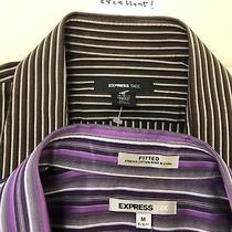 Lot of 2 Express Mens 1mx Dress Casual Shirts 15-15.5 Stretch  Photo