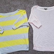 Lot of 2 Express Women's Knit Short Sleeve Tunic Tops S Photo
