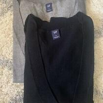 Lot of 2 Gap Womens Cardigan Sweaters Deep v-Neck Black and Gray Small Photo