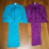 Lot of 2 Girls Danskin Now 2 Piece Set Outfits Size 4-5 Purple and Aqua Sets Photo