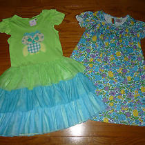 Lot of 2 Girls Nwot Dresses Baby Lulu & Hanna Andersson 6x 6 7 (120) New Photo