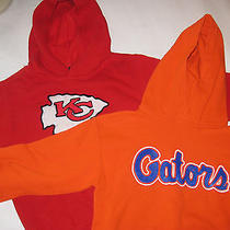 Lot of 2 Hoodies Gators Kansas City Chiefs Size 7 & M Reebok & Gilden Photo