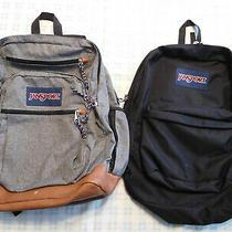 Lot of 2 Jansport Backpack Black Gray Photo
