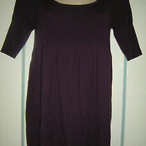 Lot of 2 Kensie Short Sleeve Sweater Dresses Size Medium Purple & Black Photo