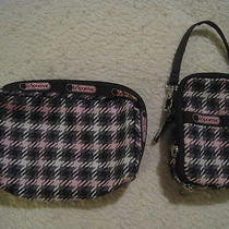 Lot of 2 Lesportsac Cosmetic Case & Cell Phone/camera Case Photo