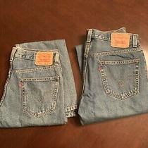 Lot of 2 Levi 505 Jeans Size 33 X 32 Blue Photo