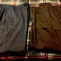 Lot of 2 Liz Claiborne Career Women Black & Blue Dress Pants 10r Photo
