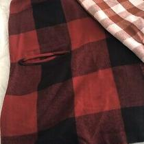 Lot of 2 Madewell Shawl Wrap Arm Holes Wool Blend 1- Red Buffalo 1- Pink Maroon Photo