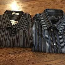 Lot of 2 Men's Dress Shirts Size 15 1/2 34 M Express  Pronto Uomo Photo