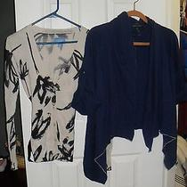 Lot of 2 Name Brand Womens Cardigans Size Xs Vera Wang and Banana Republic Photo