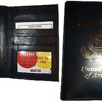 Lot of 2 New 4 Credit Cards  Id Lamb Skin Usa Leather Passport Case Wallet Bnwt Photo