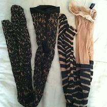Lot of 2 New Wolford Cheetah and Ribbon Tights Rare and Unique Size Xsmall Photo