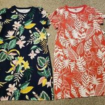 Lot of 2 Old Navy Women's Fitted Crew Neck Tee Summer Dress Size L Large Photo