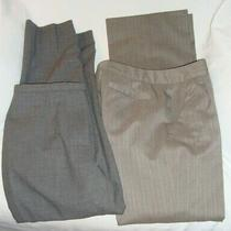 Lot of  2 Pair Gray Dress Pants Slacks Women's Size 2  Anne Klein & Ann Taylor Photo