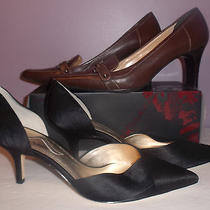 Lot of 2 Pair of Woman Shoes Anne Klein and Nina  Size 10m Photo