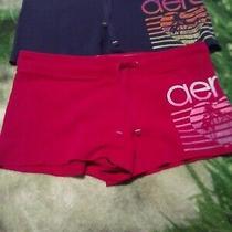 Lot of 2 Pairs Aeropostale Shorts Size Large pink&navy Photo